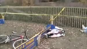 Cyclist Obstacle Course Fail