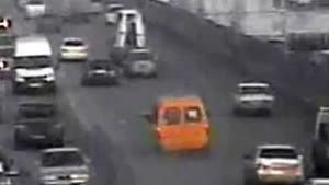 Van Loses Wheels On The Highway