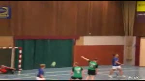 Awesome Goalie Handball Headshot