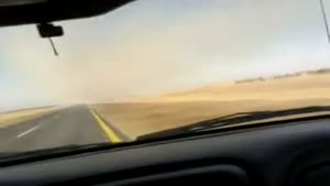 Low-Flying Jet Buzzes Car