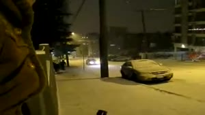 Car Sliding On Snow