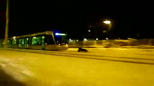 Sledding Behind A Tram