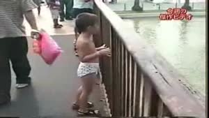 Little Kid Underestimates The Power Of Water