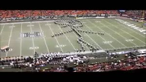 Marching Band Forms A Giant Kicker