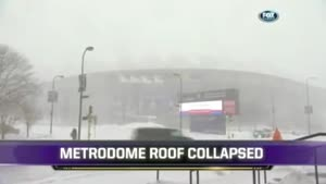 Metrodome Inflatable Roof Collapse Caused By Snow