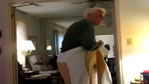 Grandpa And His Naked Towel