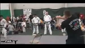 Tae Kwon Do Demonstration Fail