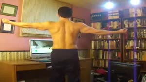 Macho Webcam Gymnastics Fail
