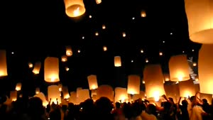 Flying Lanterns In Thailand