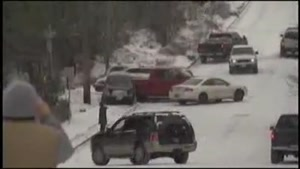 Icy Hills Cause Multi-Car Pile Up
