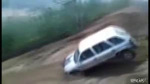 Kia Blows Jump And Rolls Down Hill