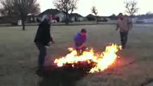 Failed Fireworks Test Ignites Grass