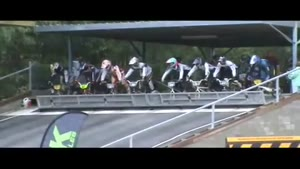 BMX Race Starts With Ten Faceplants