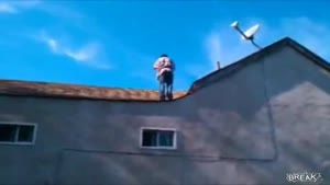 Failed Backflip Off Two Story Roof