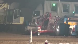 Tractor Pull Run Engine Explosion