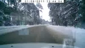 Accident On Slippery Road In Russia