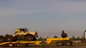 How Not To Unload Heavy Army Equipment