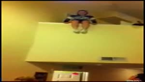 Drunk Cheerleader Backflips From Second Floor