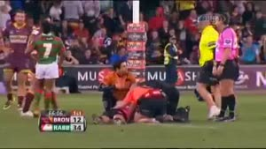 Rugby Referee Knocked Out Cold During Intense Play