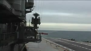 Failed Landing Attempt On Aircraft Carrier