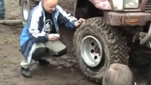 Repairing A Tire With Fire