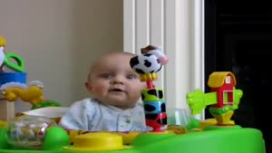 Little Baby Boy Freaks Out