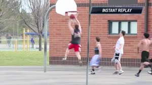 Basketball Dunk Faceplant