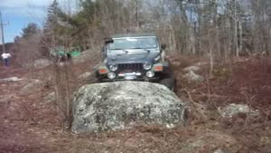 Parking The Jeep On A Rock