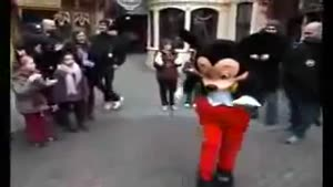 Mickey Mouse Challenged By Kid