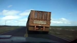 Overtaking A The Longest Truck I've Ever Seen