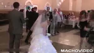 Chick Faceplants On Wedding