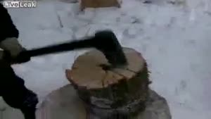 Very Efficient Way Of Chopping Wood