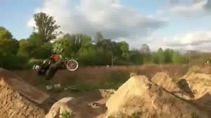 BMX backflip fail