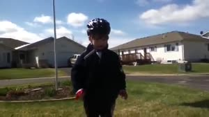 Obnoxious Kid After His First Bike Ride