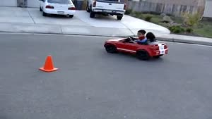Toddler Shows Mad Driving Skills
