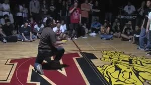 Breakdancer Kicks Competition In The Nuts