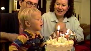 Birthday Boy Tries To Eat The Candle