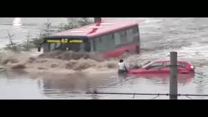 Riding A Bus Through The Flood