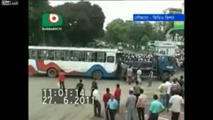 Bus Crashes Into Other Bus