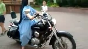 Nun Crashes Harley-Davidson