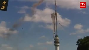TV Tower Collapses In The Netherlands