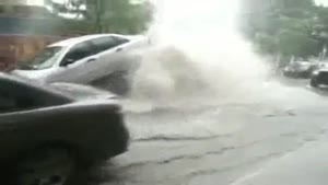 Exploding Sewer Lifts Car
