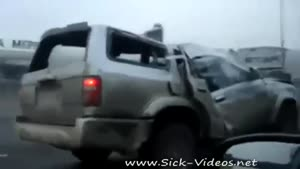 Driving A Wrecked Car On The Highway