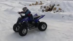 Toddler Knows How To Drive A Quad