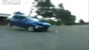 Crazy Trick Wrecks Car