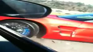 Dangerous Overtake By Corvette