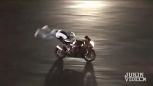 Motorcycle Stunt Goes Wrong