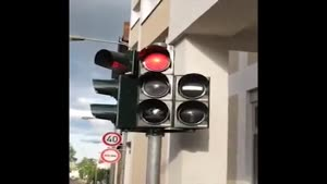 Cool Traffic Light In Frankfurt