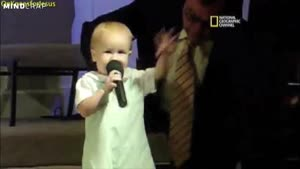 4 Year Old Preacher Giving Some Inspiring Words