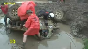 Terrifying Mud Bath For Driver